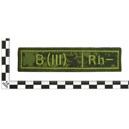"Stripe with the blood type ""B(III) -"", with velcro, Digital Flora, PR300"