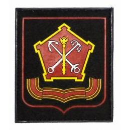 """North-Wstern Military District"" patch, PVC, black background, red frame, with velcro, PR300"