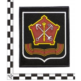 """Naszywka """"Północno-Zachodni Okręg Wojskowy"""", PVC, z rzepem, czarne tło, biały kant, PR300"""