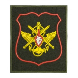 """North-Wstern Military District"" patch, PVC, olive background, red frame, with velcro, PR300"