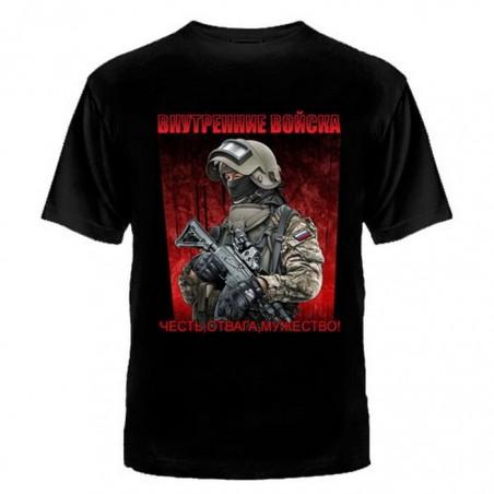 "T-shirt ""Internal Forces"", black"