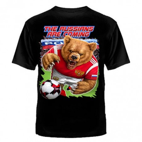 "T-shirt ""The Russians are coming!"", czarny"