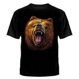 "T-shirt ""Jaws of bear"", black"