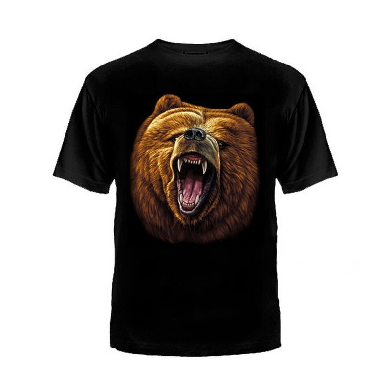 "T-shirt ""Jaws of bear"", black"