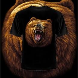 """T-shirt """"Niedźwiedź - paszcza"""", czarny"""