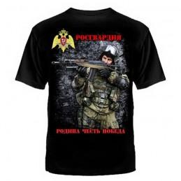 "T-shirt ""RosGwardia"", czarny"