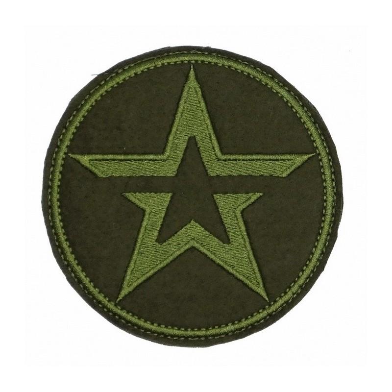 """Naszywka """"Armia"""", zielony haft, okrągła, z rzepem"""