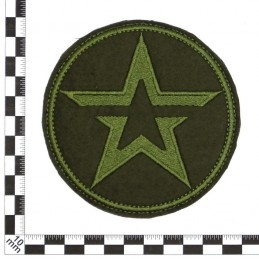 "Patch ""Army"", green embroidery, circle, with fastex"