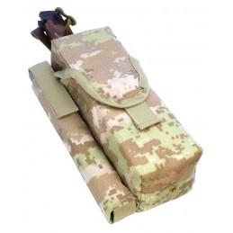 TI-P-2AK-ROPNP Ładownica na 2 magazynki AK, flarę i nóż, prawa, Cyfrowy Beż (Syria)