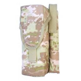 TI-P-2AK-ROPNL Ładownica na 2 magazynki AK, flarę i nóż, lewa, Cyfrowy Beż (Syria)