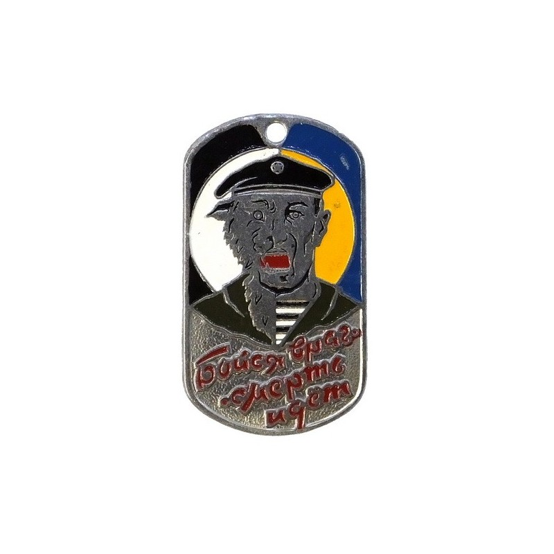 Steel dog-tags – Spetsnaz of Army Recoon, enamel