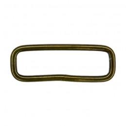 Steel rectangular slider, olive, 40x10 mm
