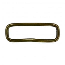Steel rectangular slider, olive, 40x10 mm