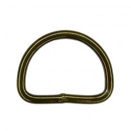 Steel D-ring, olive, 25 mm