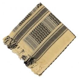 Arafatka-chusta - piaskowo-czarna