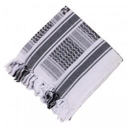 Arafatka-chusta - biało-czarna