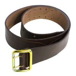 Soldier's leather belt, brown