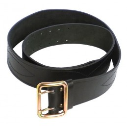 Soldier's leather belt, black