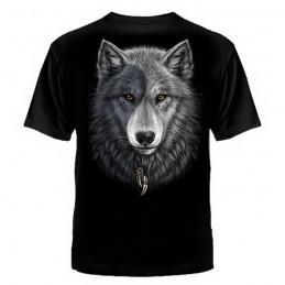 """T-shirt """"Wolf Yin-Yang"""", black"""