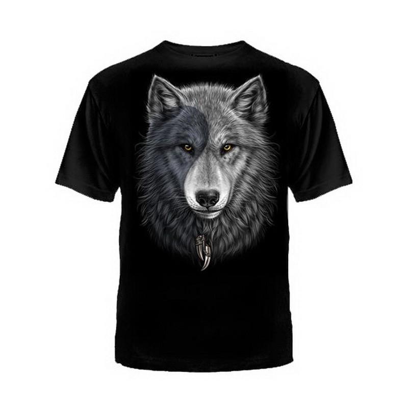 """T-shirt """"Wilk Jin-Jang"""", czarny"""