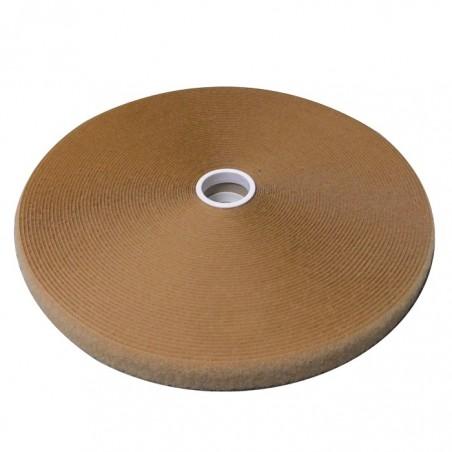 Fasteners of the Velcro® - LOOP, Tan. 25 mm