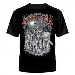 """T-shirt """"Nieważne kto przeciw ważne kto razem"""", czarny"""