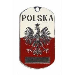 """Steel dog-tags – """"Poland"""", enamel"""