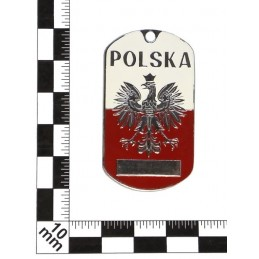 "Steel dog-tags – ""Poland"", enamel"