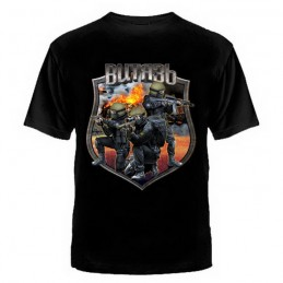 "T-shirt ""Security Service"", black"