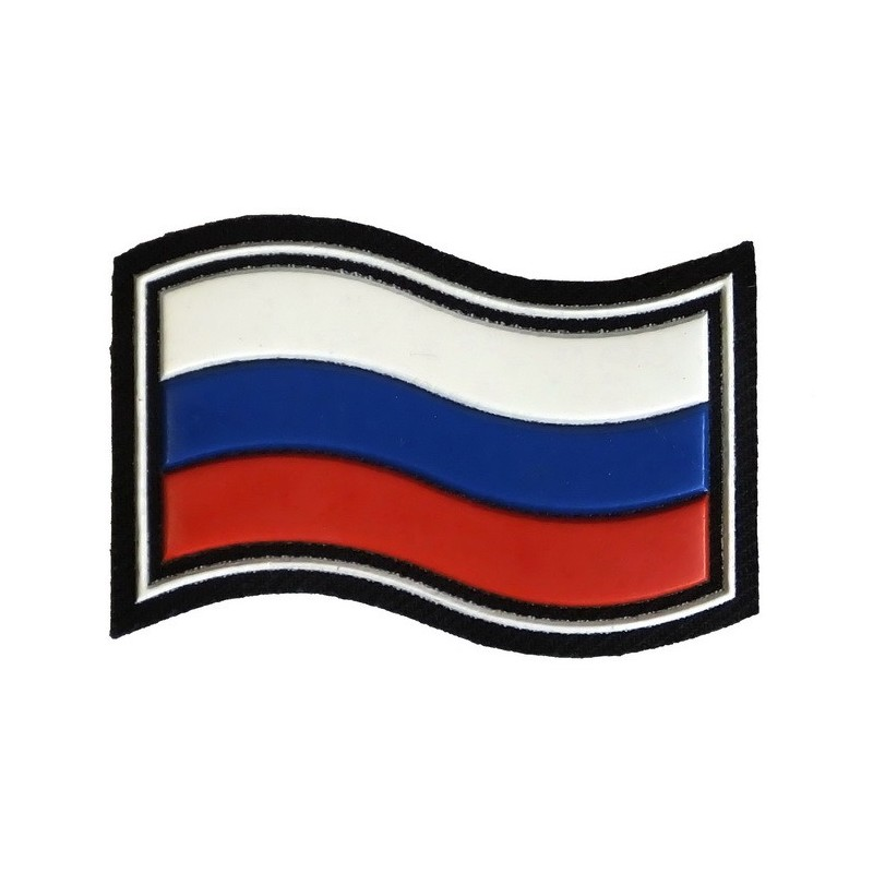 """""""Russian Flag"""" patch, wave"""