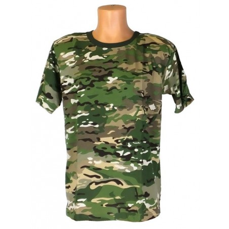 "T-shirt in camouflage ""Multikam"""