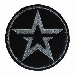 "Patch ""Army"", grey embroidery, circle, with fastex"