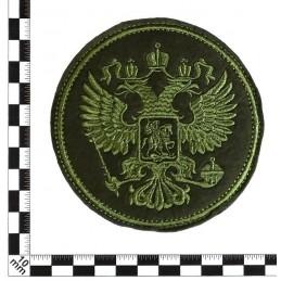 """Naszywka """"Godło"""", zielony haft, okrągła, z rzepem"""