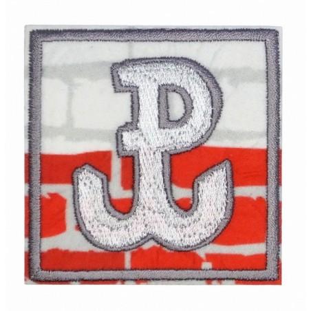 Polska Walcząca - kwadrat - naszywka termotransferowa