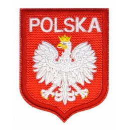 Poland with white eagle - patch with thermotransfer, big