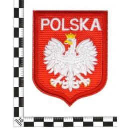 Polska z orłem - naszywka termotransferowa, duża