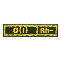 "Stripe with the blood type ""0(I) -"", with velcro, Olive RipStop"