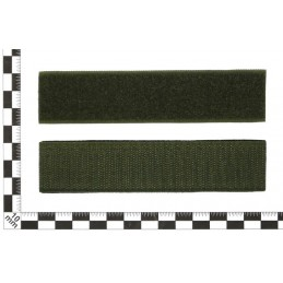 "Stripe with the blood type ""AB(IV) Rh-"", with velcro, Olive RipStop"