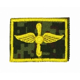 Collar tabs of Air Force, on velcro, garrison, Digital Flora background, embroided