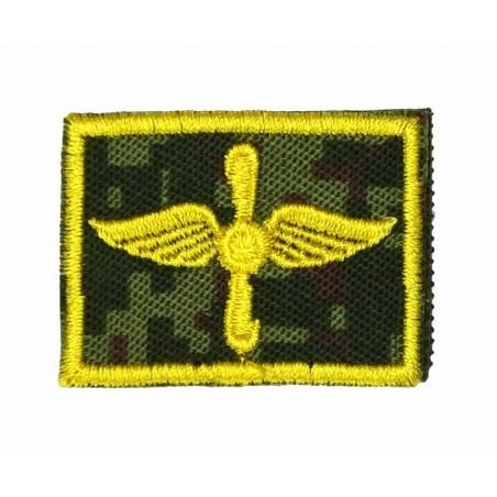 Patki Lotnictwa Wojskowego, na rzepie, wyjściowe, tło Cyfrowa Flora, wyszywane