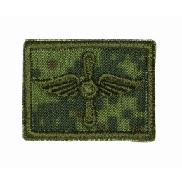Collar tabs of Air Force, on velcro, field, Digital Flora background, embroided