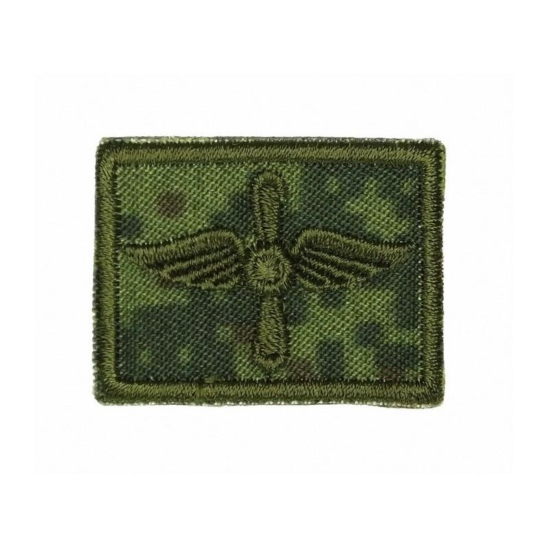 Patki Lotnictwa Wojskowego, na rzepie, polowe, tło Cyfrowa Flora, wyszywane