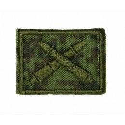 Collar tabs of Missile Force and Artillery, on velcro, garrison, Digital Flora background, embroided