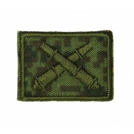 Collar tabs of Missile Force and Artillery, on velcro, field, Digital Flora background, embroided