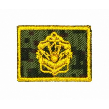 Collar tabs of Engineers, on velcro, garrison, Digital Flora background, embroided