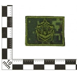 Collar tabs of Engineers, on velcro, field, Digital Flora background, embroided