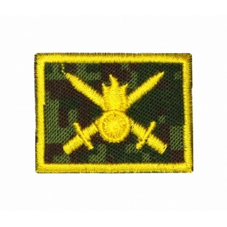 Collar tabs of Ground Forces, on velcro, garrison, Digital Flora background, embroided