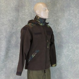 RZ Polar blouse with removable hood, brown with Izlom camouflage
