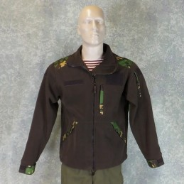 RZ Polar blouse with removable hood, brown with Partizan camouflage