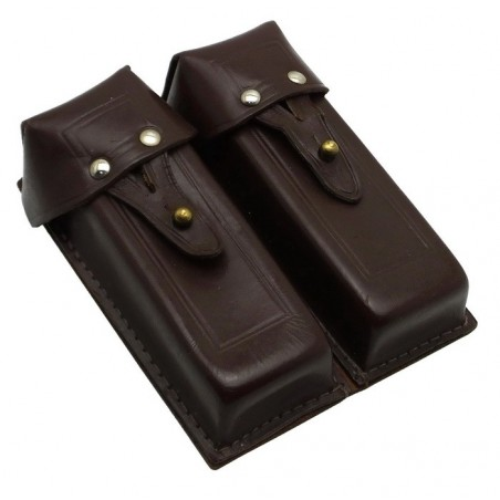 Pouch for 4 APS (Stiechkin) magazines, leather, brown